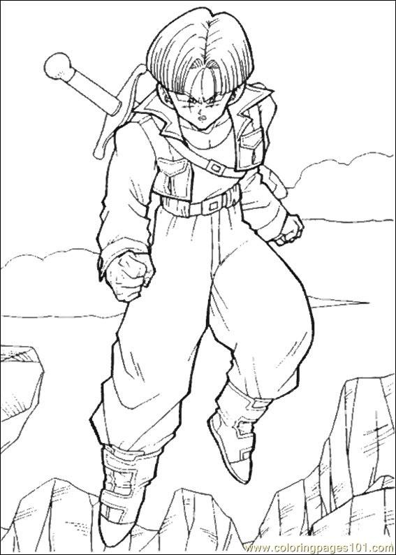Dragon Ball Z 15 Coloring Page