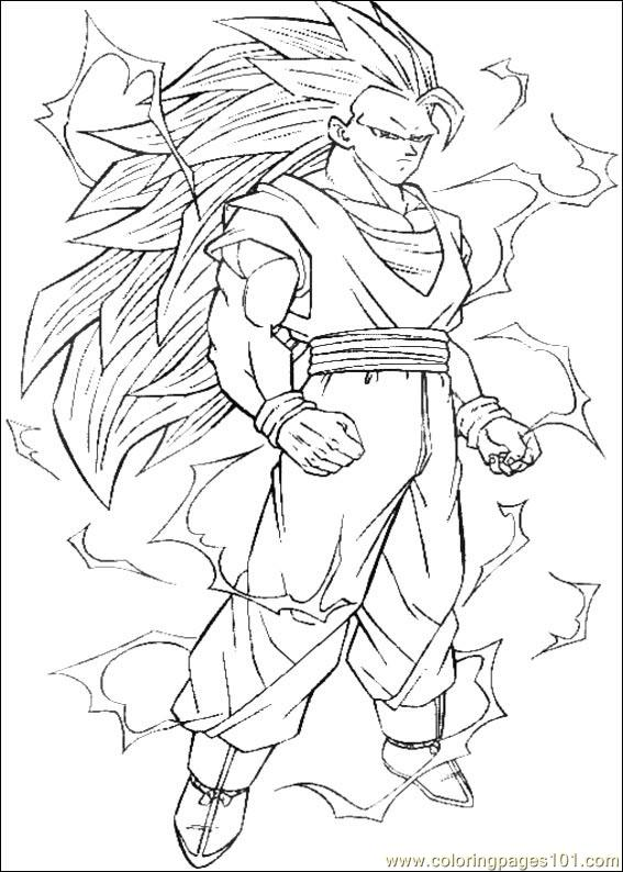 Dragon Ball Z 16 Coloring Page