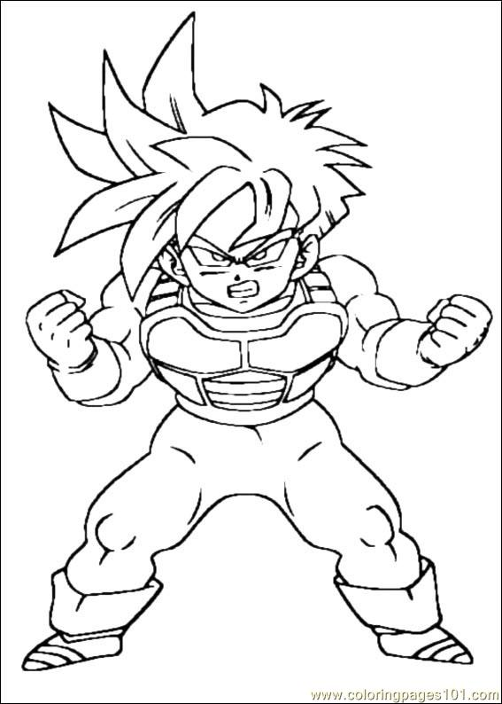 Dragon Ball Z 17 Coloring Page Free Dragon Ball Z