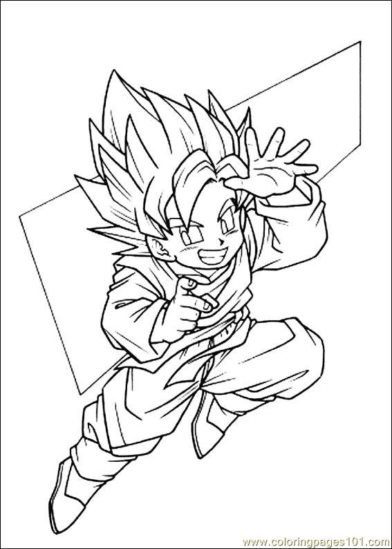Dragon Ball Z 18 Coloring Page
