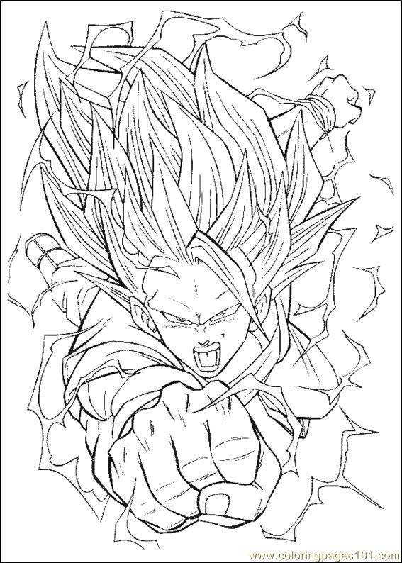 Dragon Ball Z 19 Coloring Page  Free Dragon Ball Z Coloring Pages