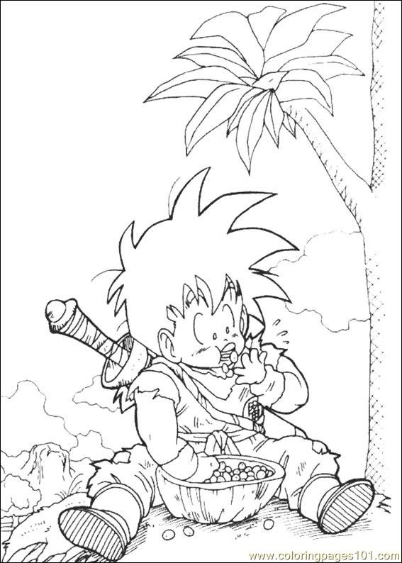 Dragon Ball Z 23 Coloring Page