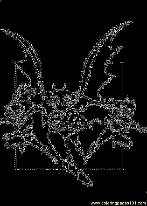 I39 Dragon Coloring Page