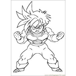 Dragon Ball Z 17 coloring page