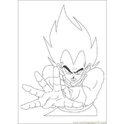 Dragon Ballz Free Coloring Page for Kids