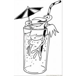 Bird Is Having A Drink Free Coloring Page for Kids