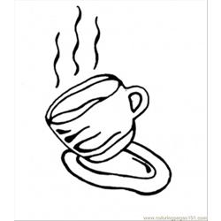 Tasty Coffee Free Coloring Page for Kids
