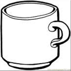 Tea Cup Coloring Page Free Coloring Page for Kids