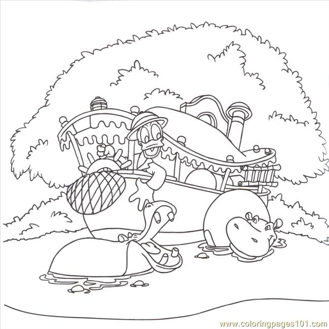 Adventureland Donald Duck Coloring Page