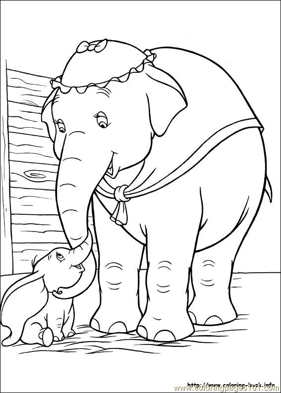 dumbo 18 coloring page  free dumbo coloring pages