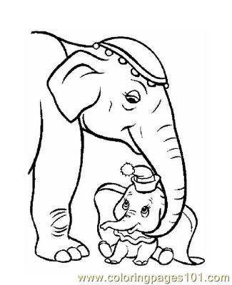 Dumbo 5 Coloring Page