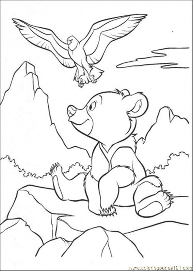 Bear And Eagle Coloring Page Coloring Page - Free Eagle Coloring ...