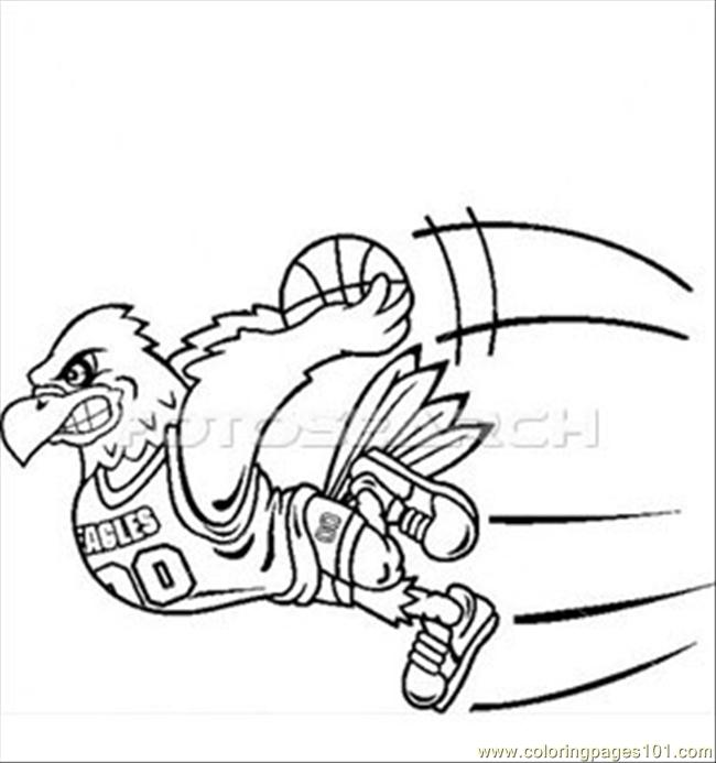 Eagle Dunk ~b Coloring Page