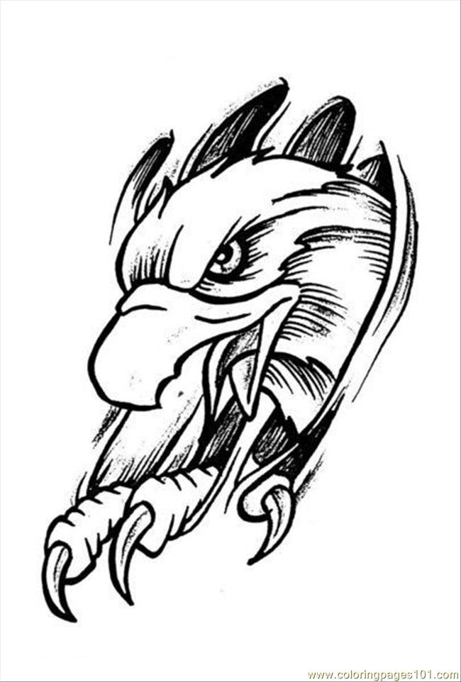 Eagles Tattoo Design Prev 4 Coloring Page - Free Eagle Coloring ...
