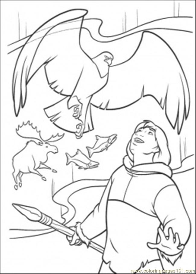 Finds The Eagle Coloring Page Coloring Page