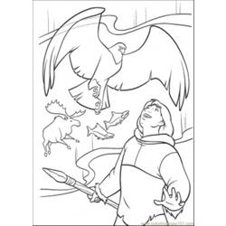 Finds The Eagle Coloring Page