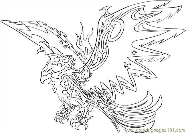 Pagine Da Colorare Per Animali Tribali: To Draw A Tribal Eagle Step 8 Coloring Page
