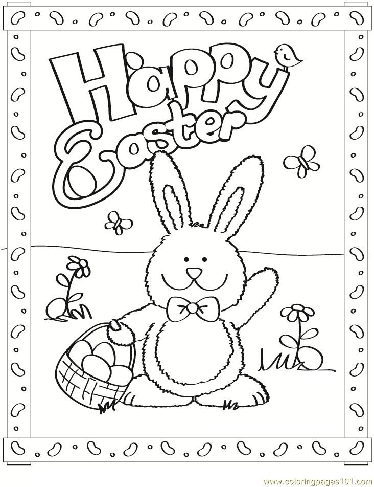 Free Easter Bunny Coloring Page - Free Easter Bunnies Coloring Pages ...