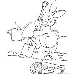 Easter bunnie coloring page
