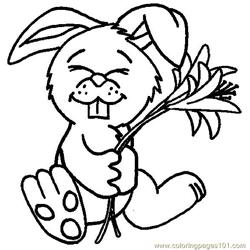 Easter bunny Free Coloring Page for Kids