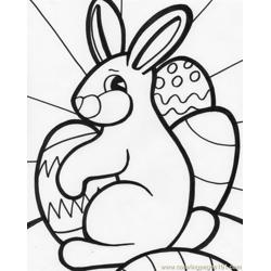 Easter bunnie Free Coloring Page for Kids