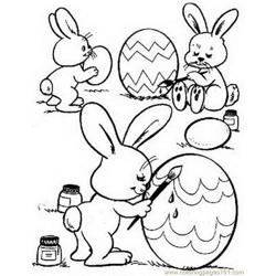 Easter bunnie coloring egs