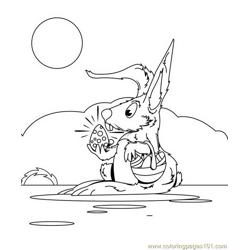 Happy easter bunnie coloring page