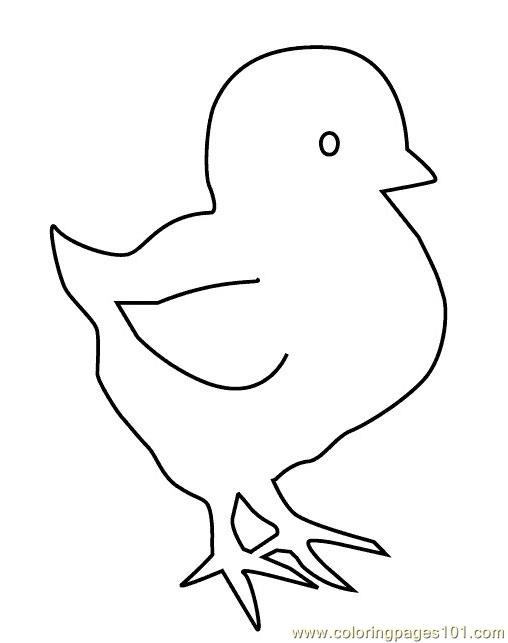 Easter-chicks Coloring Page