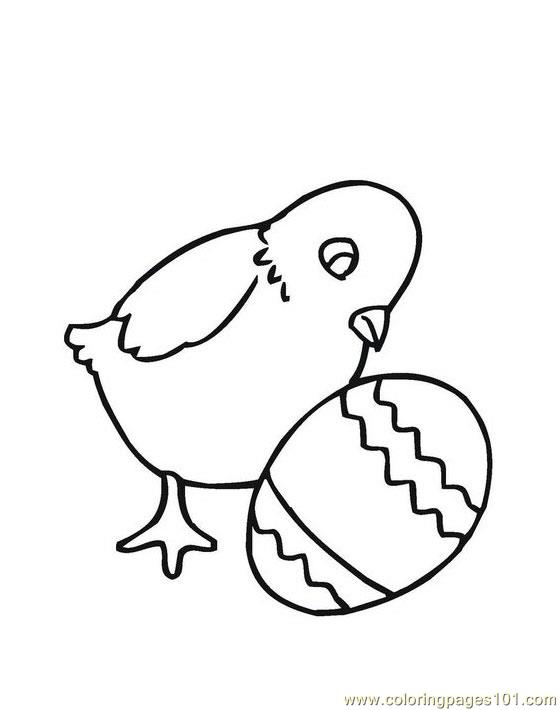 Easter chick see egg Coloring Page