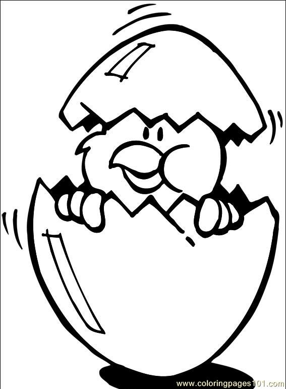New easter chick Coloring Page