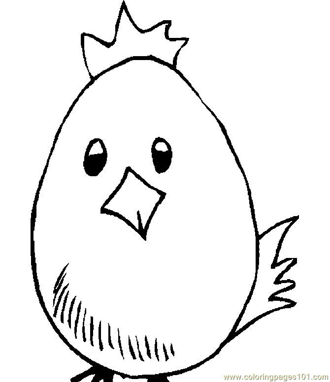Egg easter chick Coloring Page - Free Easter Chicks Coloring Pages ...