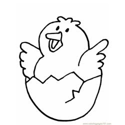 Easter chicks happy mood Free Coloring Page for Kids