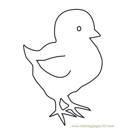 Easter-chicks Free Coloring Page for Kids