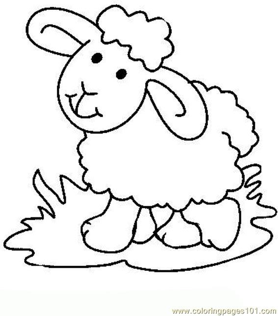 easter lambs coloring page - Lamb Coloring Page