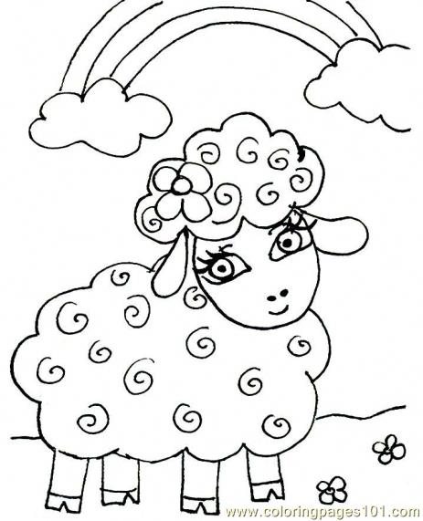 Little lamb coloring page free easter lambs coloring for Lamb coloring page