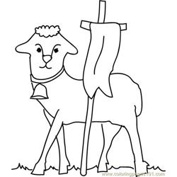 Lambs cloth coloring page