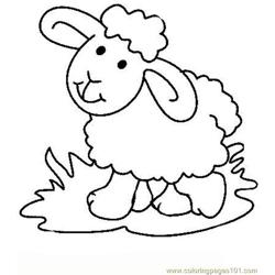 Easter lambs coloring page