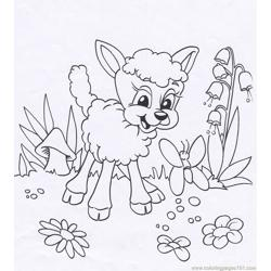 Lamb animal coloring page