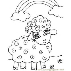 Little lamb Free Coloring Page for Kids