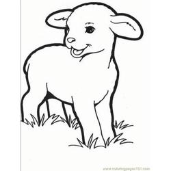 lambs son coloring page