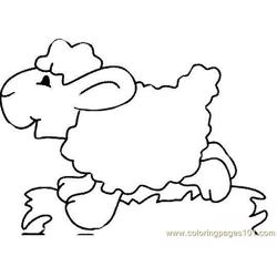 Lambs runing Free Coloring Page for Kids