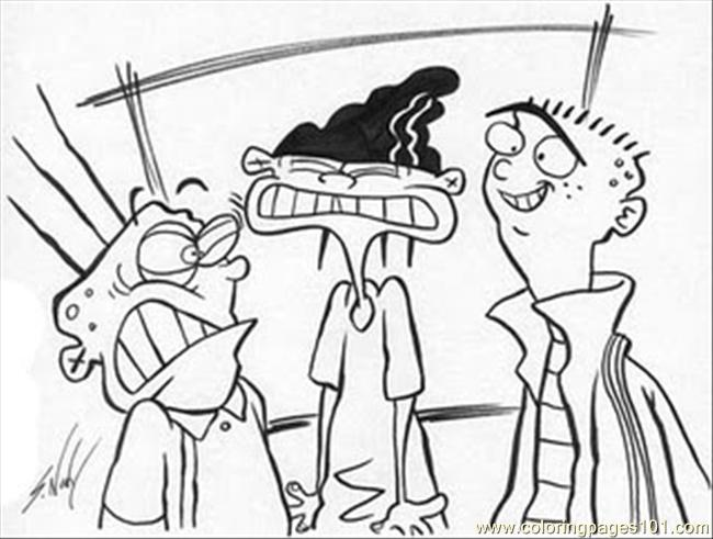 Sketches051 Coloring Page  Free Ed Edd n Eddy Coloring Pages