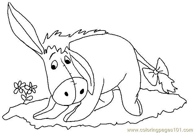 Listening Coloring Pages Eeyore Page Free