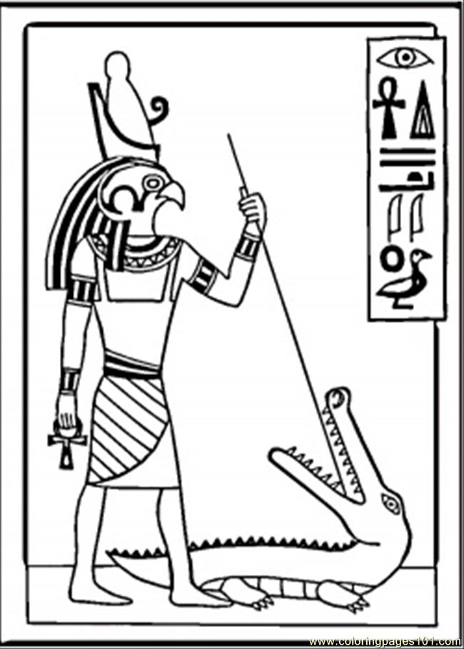 Egyptian Drawing Coloring Page With Egypt Coloring Pages