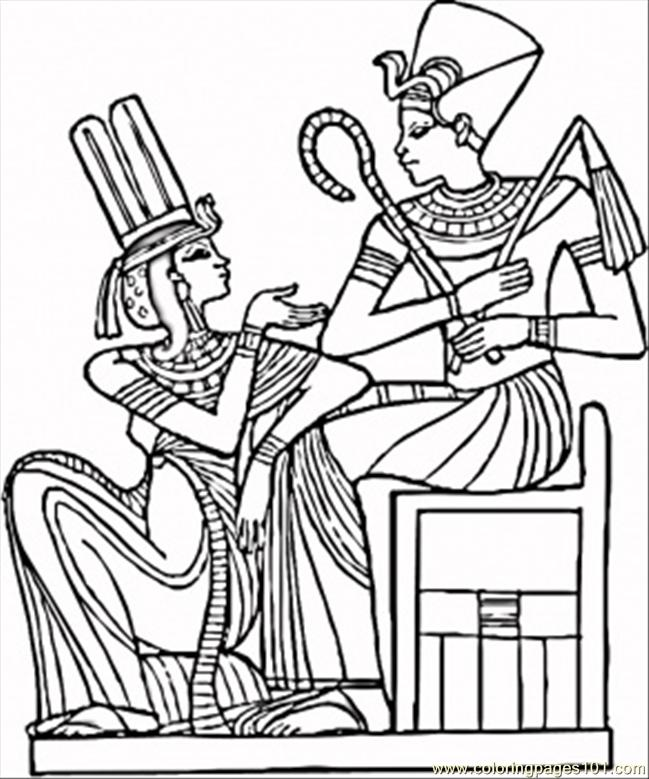 Egyptian pharaohs coloring page