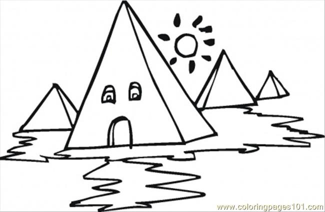 egyptian pyramid coloring pages - photo#23