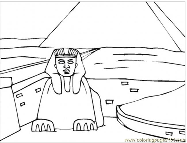 Sphinx Coloring Page Free Egypt Coloring Pages Coloringpages101 Com