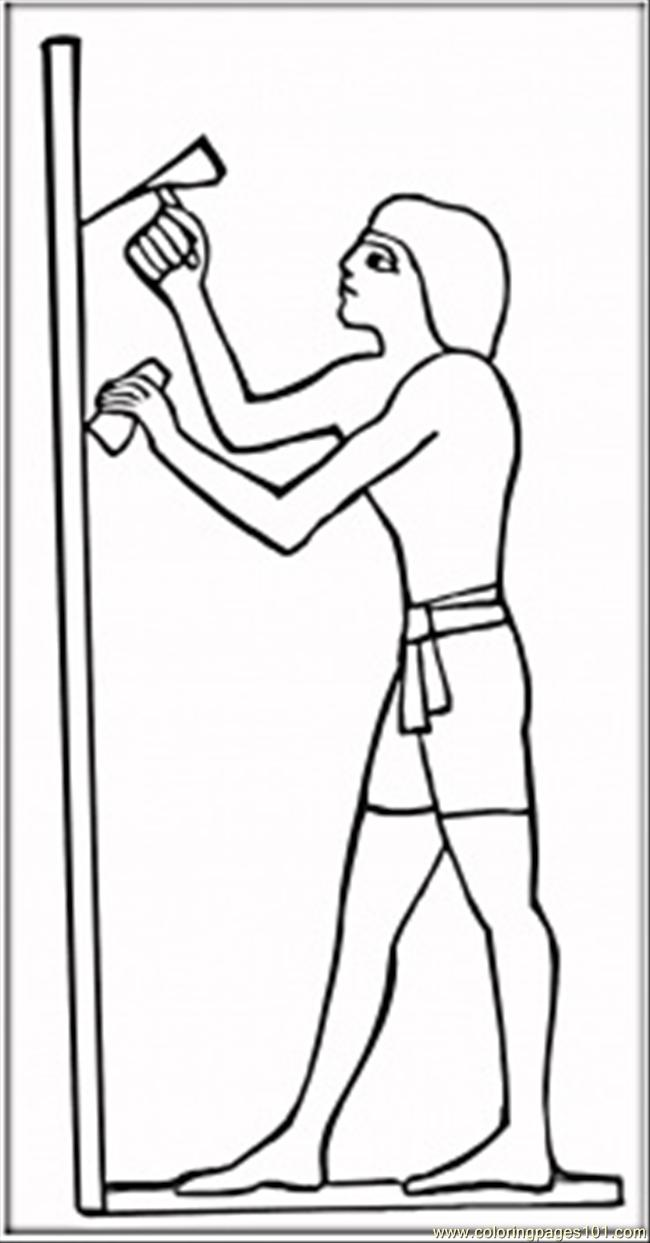 ancient egypt coloring pages a figure of ancient egypt hunter