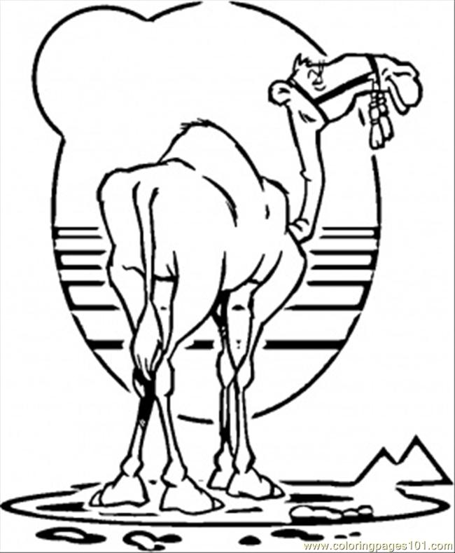 Camel Coloring Page Free Egypt Coloring Pages ColoringPages101com