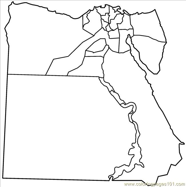 Egypt Governorates Blank Coloring Page Free Egypt